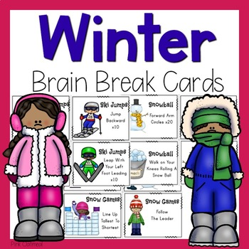 Brain Breaks - Winter Themed Cards