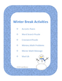 Winter Break Activities for Grades 3-8