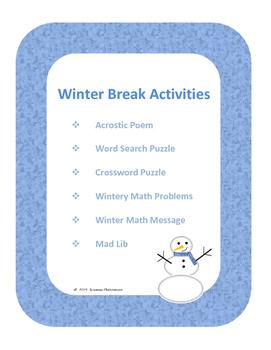 Winter Break Activities for Grades 3-8