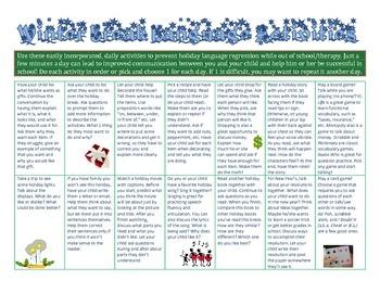 Winter Break Holiday Language Activities