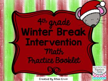 Winter Break Math for 4th grade