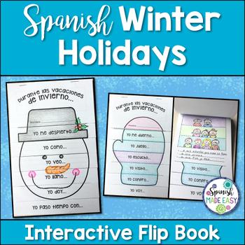 Winter Break: Spanish Interactive Flip Book