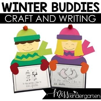 Winter Buddies- Craft and Writing Templates