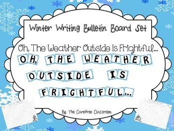 Bulletin Board Set: Winter Writing Activity