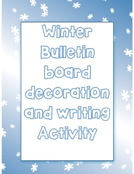 Winter Bulletin Board idea - Warm up with a good book