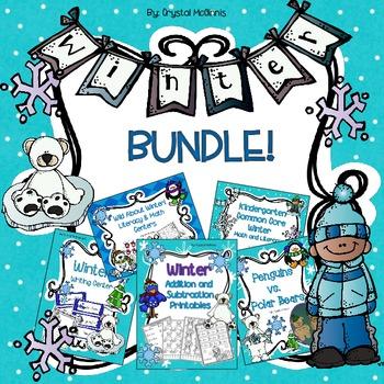 Winter Bundle! Five Winter Packs HALF PRICE (Science, Math