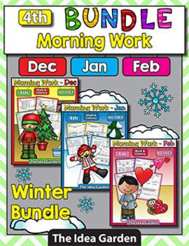 Winter Bundle - Morning Work NO PREP (Fourth)