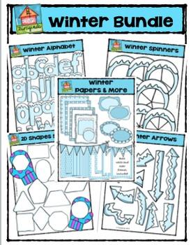 Winter Bundle  (P4 Clips Trioriginals Digital Clip Art)