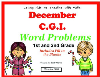 C.G.I Common Core Math Winter Holidays Word Problems