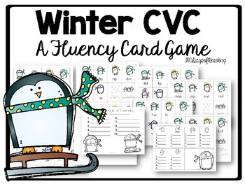 Winter CVC Fluency Game Owl Themed