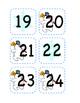 Winter Calendar Number Cut Outs