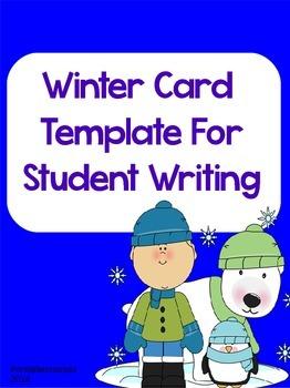 Winter Card Template-Writing Center