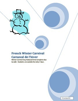 """Winter Carnival """"Carnaval"""" playday Planning  nd template f"""