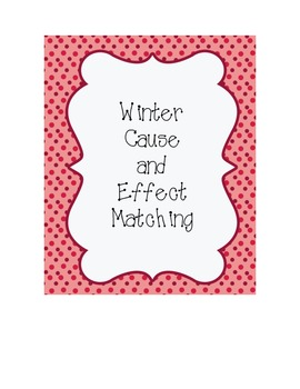 Winter Cause and Effect Cards