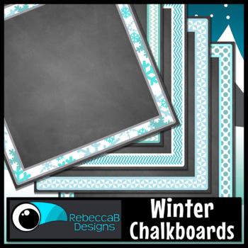 Winter Framed Chalkboards
