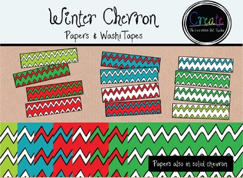 Winter Chevron Papers & Washi Tapes