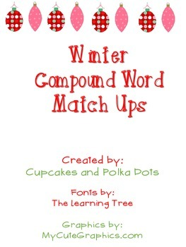 Winter Christmas Compound Word Match