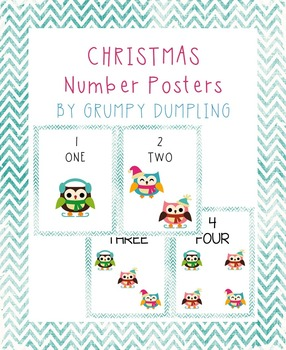 Winter Classroom Decorations - Mini-posters {Numbers 1-10}