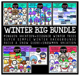 Winter Clip Art Big Bundle