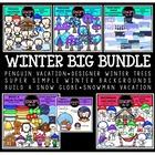 Winter Clip Art Big Bundle