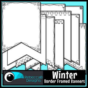 Winter Pennant Doodle Borders