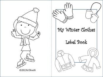 ESL Activity: Winter Clothes Label Book-Early Primary and