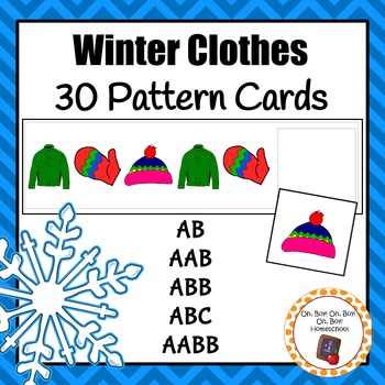 Patterns: Winter Clothes Pattern Cards