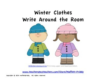 Winter Clothes Write Around the Room