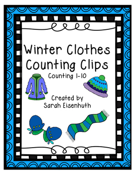 Winter Clothing Counting Clip Cards FREEBIE