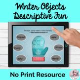 Winter Clothing Descriptive Language Lesson Teletherapy