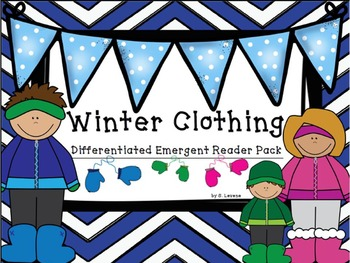 Winter Clothing and Body Part /Sight Word Emergent Readers