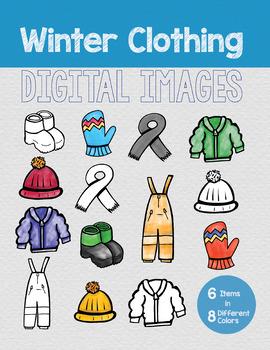 Winter Clothing Digital Images (Clip Art)