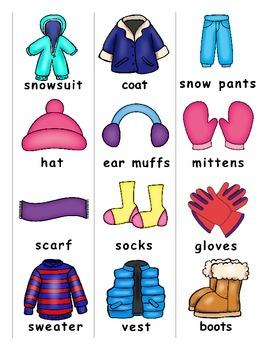 Winter Clothing ESL Games