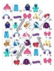 Winter Clothing FOREIGN LANGUAGE Workbooks & Games pack Sp