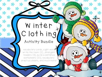 Winter Clothing and Body Part Practice Bundle