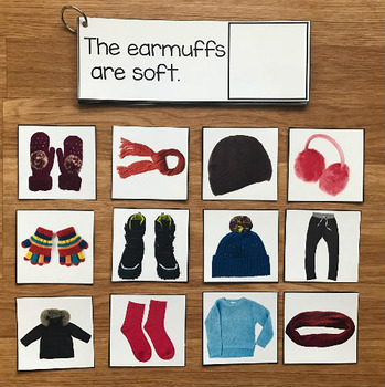 Winter Clothing Sentence Comprehension and Matching Activi