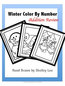 Winter Color By Number Addition Review