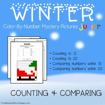 Winter Color-By-Number: Counting/Greater Than/Less Than (K-2)