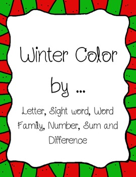 Winter Color By ... Packet