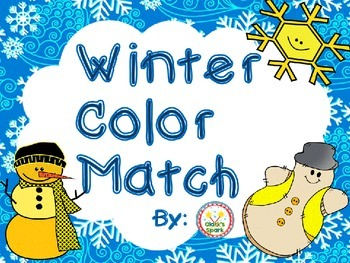 Winter Color Match Math Center