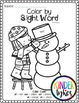 Winter Color by Sight Word Bundle (Pre-primer & Primer)