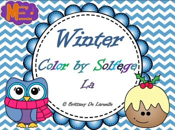 Winter Color by Solfege - So, La & Mi Practice