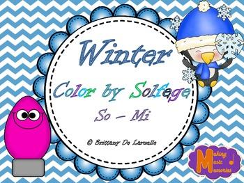 Winter Color by Solfege - So & Mi Practice