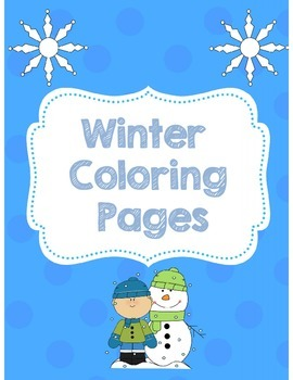 Winter Coloring Pages *Free*