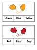 Winter Colors Clip Cards: 3 Levels! 10 Colors!