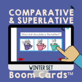 Comparative/Superlative Speech Therapy Grammar Cards: Wint