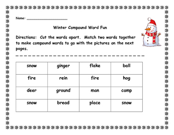 Winter Compound Word Fun