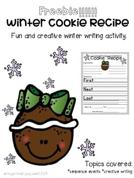 Winter Cookie Recipe Writing
