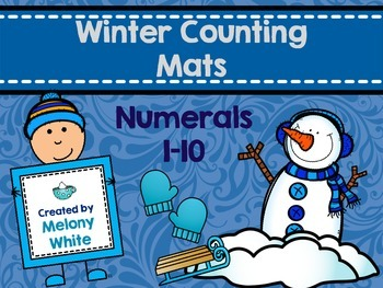 Winter Counting Mats Numerals 1-10