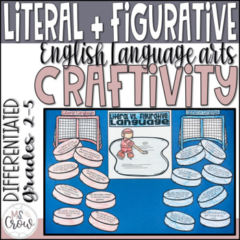 Winter Craftivity ~Hockey Literal vs. Figurative Language~